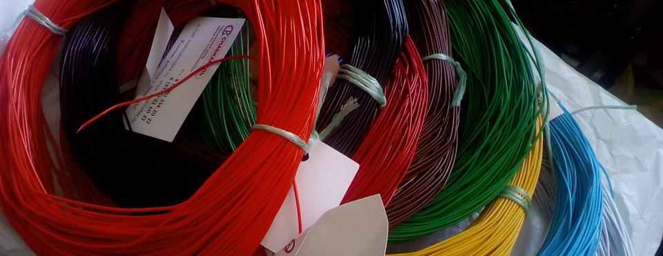 Автомобильные провода различных цветов